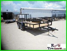 77 x 14 14ft Farm Mower Tractor Construction Side UTV Utility Cargo Trailer DFW