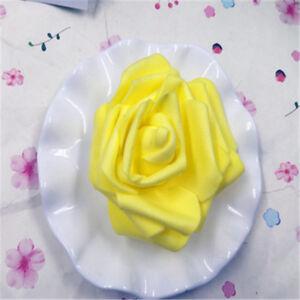 50-500pcs 7-8cm PE Foam Roses Artificial Flower Wedding Bride Bouquet Party