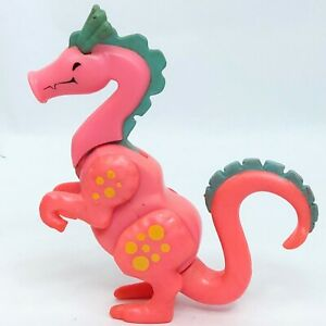 Little People Dragon figure toy figurine Pink Fisher Price Vintage Flawed