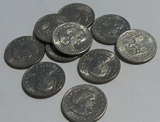 ASSORTED  Susan B. Anthony Dollars, Lot of TEN Coins