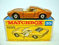 "Matchbox RW 33C Lamborghini Miura metallic gold ""SF Farbe ) sehr selten ""F"" Box"
