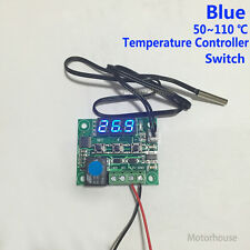 DC 12v Blue Digital Adjustable Temperature Controller Module Relay 10A Switch
