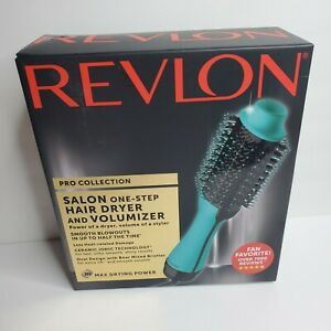 Revlon One Step Hair Dryer and Volumizer Turquoise  Pro Collection NIB