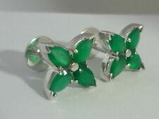 Stunning Designer Green Onyx (8.0 Carats)& Sterling Silver Cufflinks - ByNina