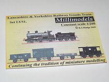 Millimodels Card/paper model L&Y Railway goods train set LYS1 1/200 scale