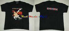 T-SHIRT MAGLIA EMINEM nera black TG 7-8 128 CM lp cd dvd mc vhs live