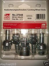 LOCKING WHEEL NUT/STUD/BOLT/FIXING/SOCKET SET/KIT FEBI BILSTEIN GERMANY - 27048