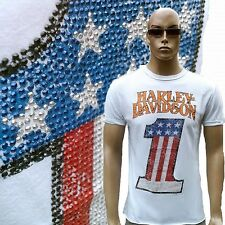 WOW H-D classic officiel harley davidson strass Etats-Unis NUMBER ONE T-SHIRT L