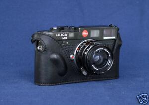 Mr.Zhou Black Leather Half Case for Leica M2 M3 M4 M6 M7 MP Cameras