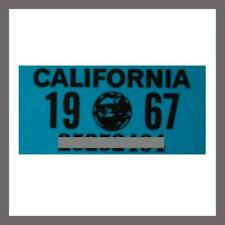 1967 California Yom DMV Car Truck Trailer MC License Plate Sticker Tag 1963/67