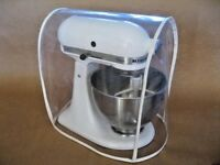 CLEAR MIXER COVER fits KitchenAid Tilt-Head - WHITE trim