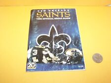 1986 NEW ORLEANS SAINTS MEDIA PRESS YEARBOOK GUIDE NFL FOOTBALL