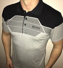 Hugo Boss Polo Top size XXL Men's BNWT NEW Grey/black green label