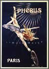 Cycles Phebus 1895 Paris France Vintage Poster Print Art Nude Winged Angel