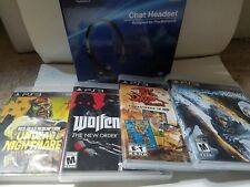 brand new PlayStation 3 chat headset -with five game bundle