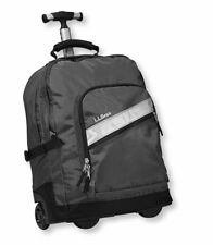 LL BEAN ROLLING DELUXE BOOK PACK T-FRAME CARRY-ON WHEELED BAG BLACK BACKPACK NEW