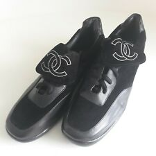 Chanel lace up men's shoe in black suede - UK Size 6, US Size 7, EU size 40