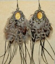 Gypsy Gothic Burlesque Tribal Feather Emo Belly Dancing Hippie Festival Earrings