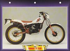 CARTE FICHE MOTO   YAMAHA  TY 250 R .  1984 . NEUVE