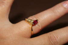 18ct Yellow Gold Diamond and Ruby Ring