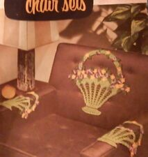 Vintage Crochet Chair Doilies Pattern Book Deer Butterfly Basket of Flowers Lacy