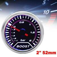Universal 52mm 2inch Car Gauge Meter Mechanical Dials Turbo Boost -1~2 Bar 12V