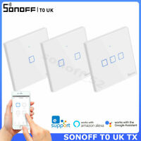 SONOFF T0 UK Smart Wifi Wall Touch Light Switch Wireless APP Remote Control Lamp