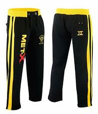 Jogging Bottom Exercise Fitness Boxing MMA Gym Sweat Fleece Trousers Blk/Yellow