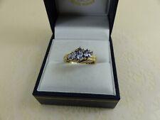 Pretty  9ct 9carat Gold Tanzanite Ring Size 'L 1/2'