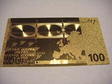 BILLETE 100 EUROS REPLICA ORO GOLD 24K