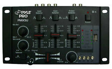 Pyle PMX5U Professional 2-Stereo Channel DJ Mixer W/ USB SD Card Player