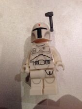 MEGA RARO LEGO STAR WARS CONCEPT Bianco Boba Fett Mini Figura + CASCO & Jetpack
