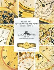 ▬► PUBLICITE ADVERTISING AD MONTRE WATCH BAUME ET MERCIER Riviera 1992