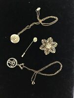 Lot Of Daughters Of Rebecca Jewelry-Odd Fellows-Pin-Brooch-Locket-Charm