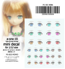Azone Eye Decal Sticker 06 for Obitsu , pureneemo, dollfie 1/12 body japan dolls
