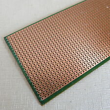 5x pcb 6.5x14.5cm Streifenraster Lochraster Platine Leiterplatte jointe Löcher