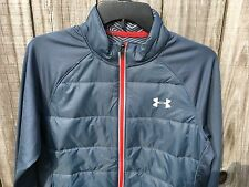 Men's Under Armour UA Storm ColdGear Infrared Hybrid Jackets Blue Red Size S
