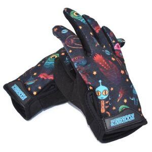 ZippyRooz Aliens Toddler/ Little Kids Bike Gloves Full Long Finger Girls Boys