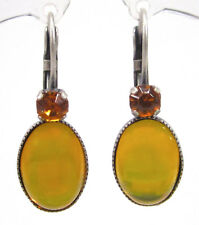 SoHo® Ohrringe Ohrhänger geschliffene Kristalle topaz Glas yellow moonshine gelb