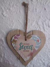 """""""Home SWEET Home"""" Shabby Chic Wooden Wall Plaque"""