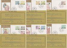 Vaticano 1981 FDC The Golden Series Viaggi del Papa (Sfoglia Oro 23k)