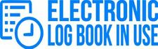 "Set Of 2 SKY ""ELog Device in Use"" Electronic Log Book Decal Sticker Truck ELD"
