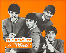 THE BEATLES Parlophone Window Poster / Handbill - Record Company Promo - reprint