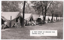 Grange Fair Centre Hall PA -  A Tent Street Vintage Real Photo Postcard