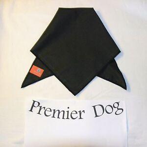 Plain Black Dog Bandana / Scarf - 3 sizes to choose from!