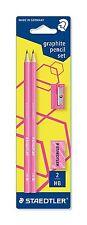 STAEDTLER Lápiz Wopex Neon Kit De Grafito-Rosa (Lápices/Eraser/Set Afilador)