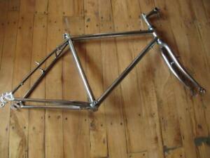 Vintage 80s Unknown Brand ,ITM Stem, Chromed Steel MTB Bicycle Frame.