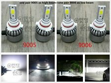 9005+9006 Combo LED Headlights Bulbs Kit High Low Beam Super Bright 6000K White