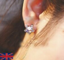 Star Shaped Colorful Crystal Stud Earrings for Women - UK Free P&P