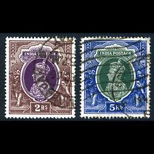 INDIA 1937-40 2R & 5R. SG 260-261. Fine Used. (AR520)